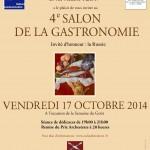 Affiche 4ème Salon de la Gastronomie