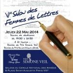 Affiche 6ème Salon des Femmes de Lettres