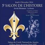 Affiche Salon de l'Histoire 2014