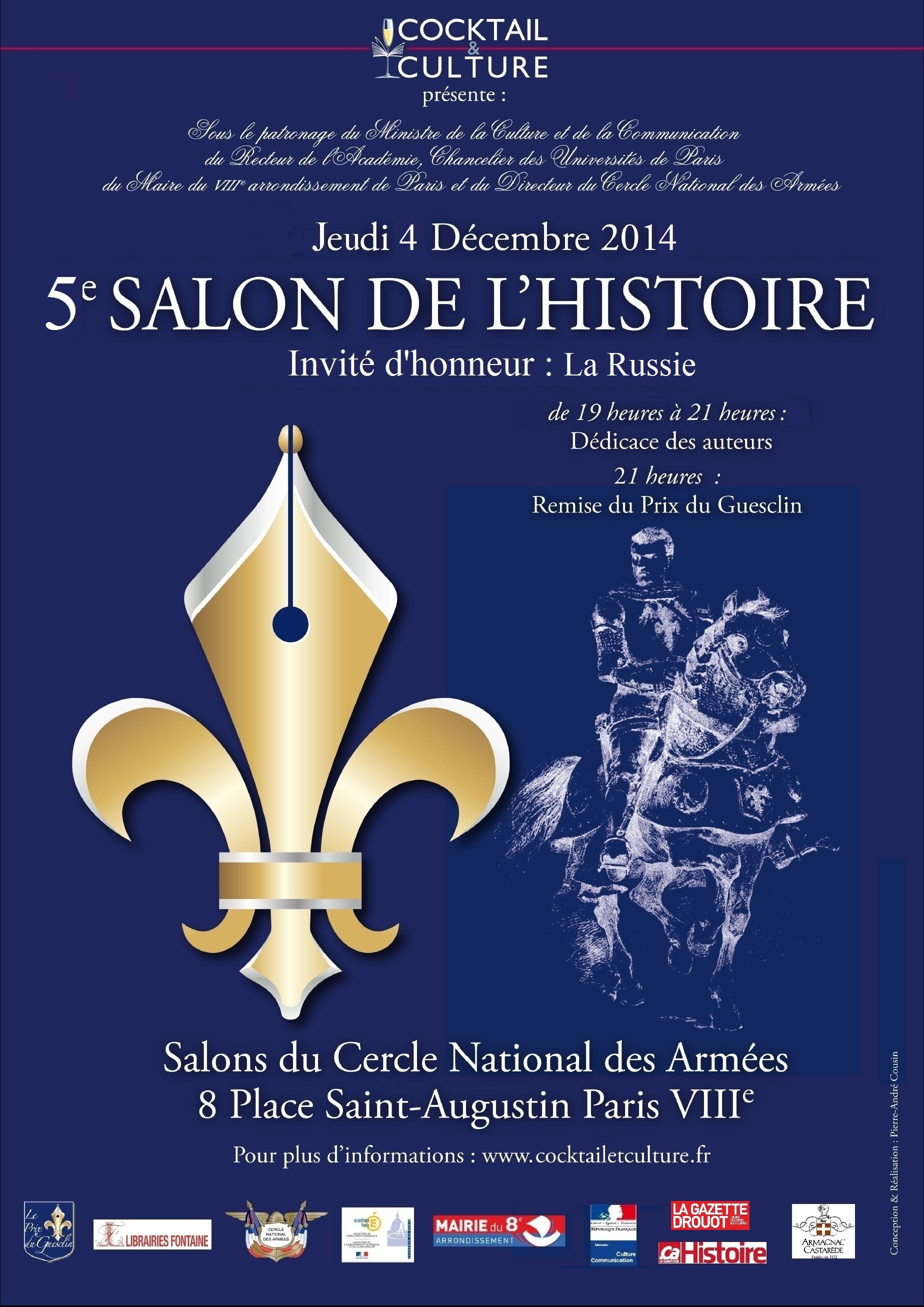 Salon de l histoire prix du guesclin cocktail et culture for Porte de champerret salon histoire