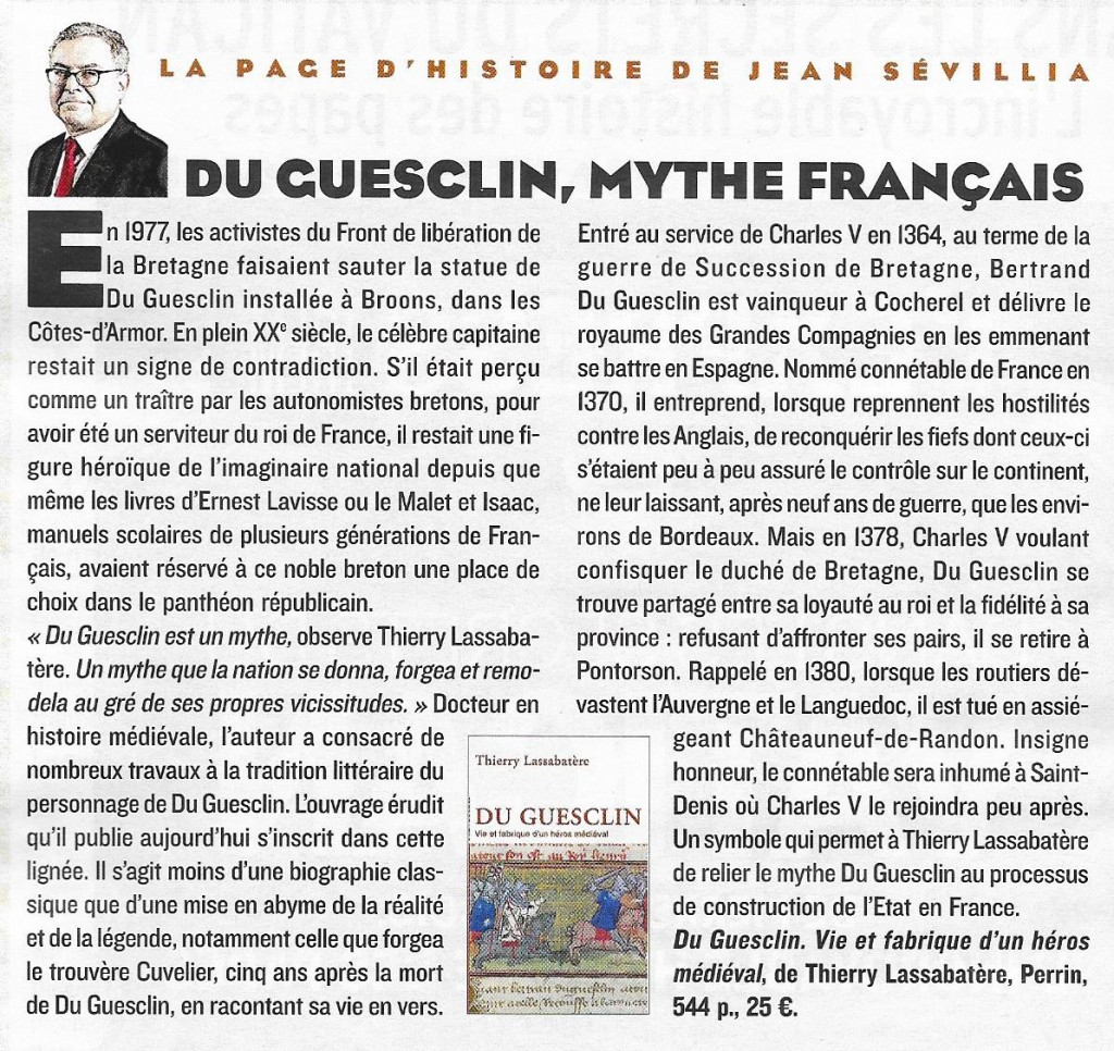 Article Du Guesclin Figaro 11.12.15