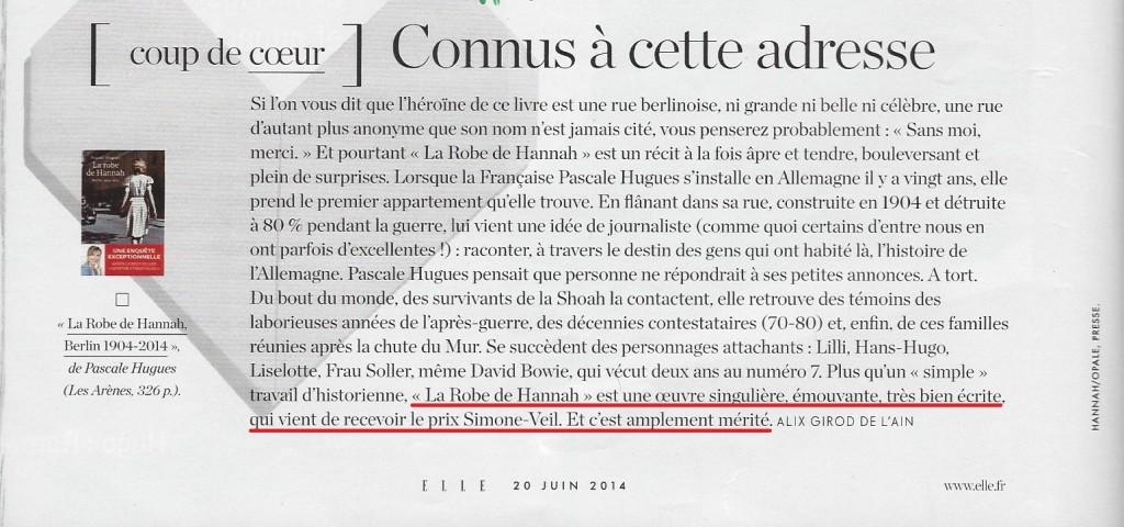 Article Elle Prix Simone Veil 2014 (site)