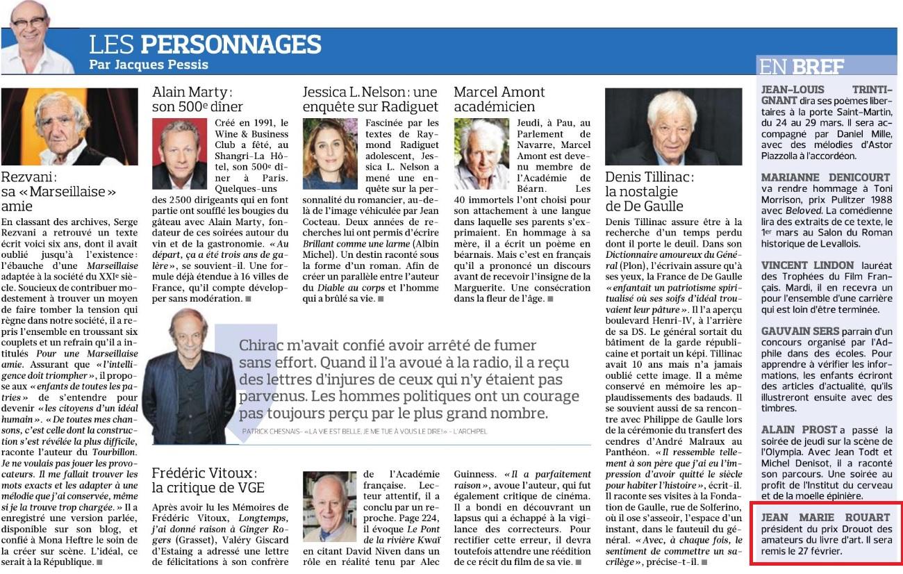 Article Figaro 8-9 février 2020 Prix Drouot