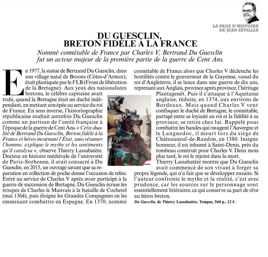 Article Figaro Du Guesclin 17 avril 2020