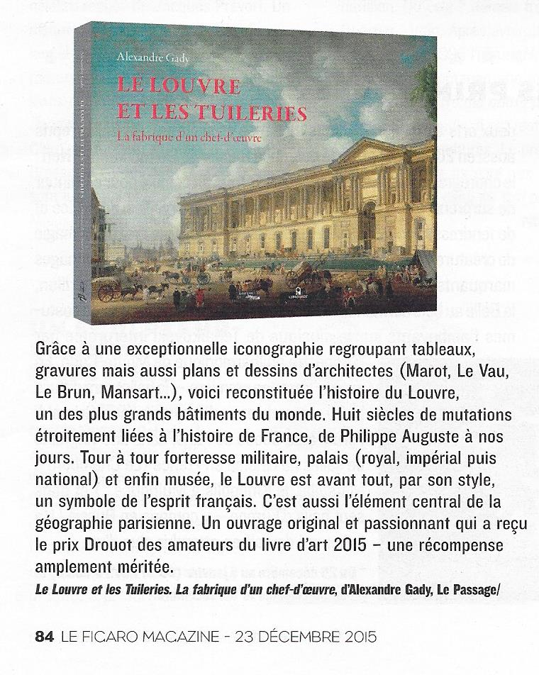 Article Figaro Magazine 23.12.15