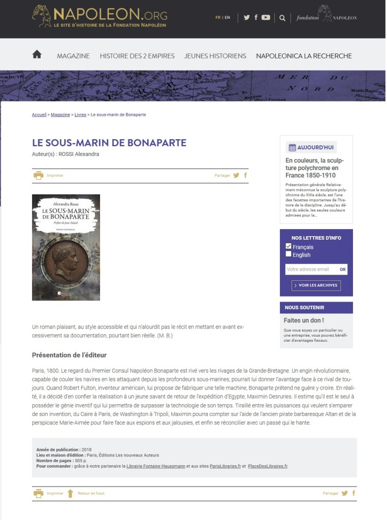 Article Fondation Napoleon