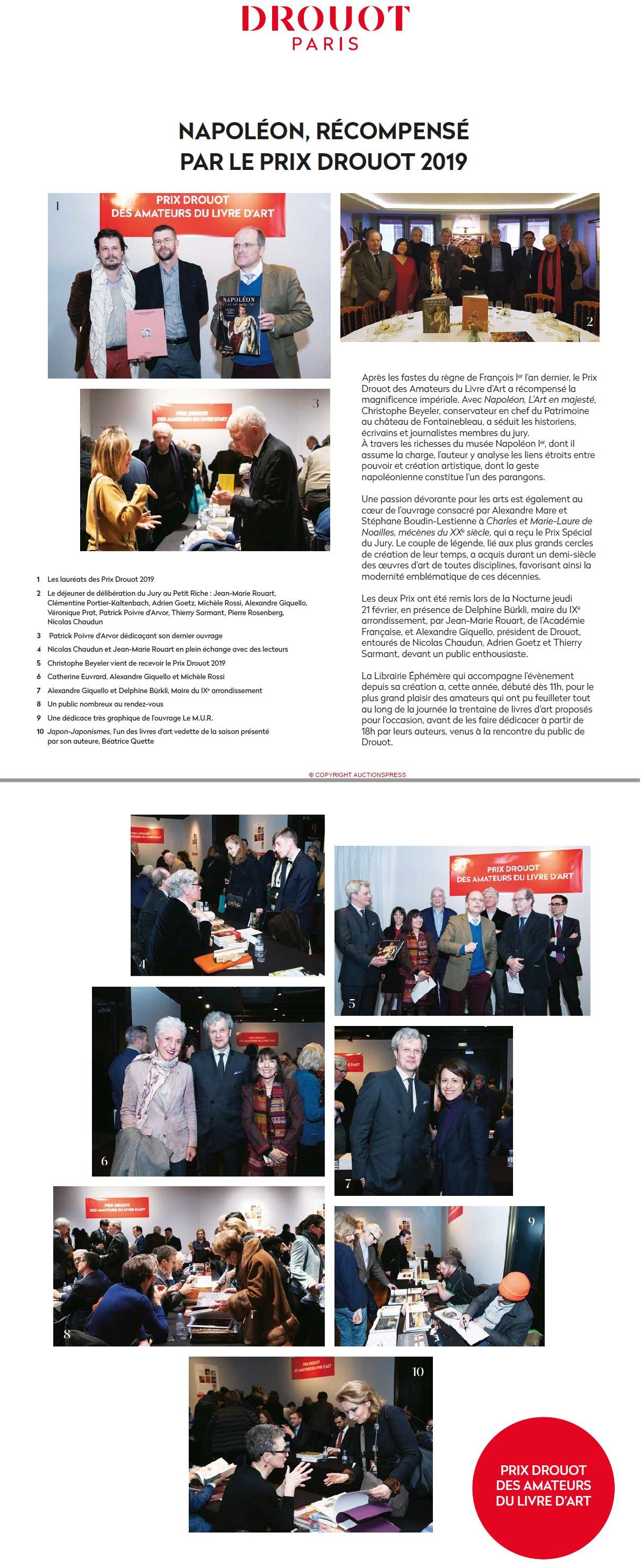 Article Gazette de Drouot Remise Prix Drouot 2019