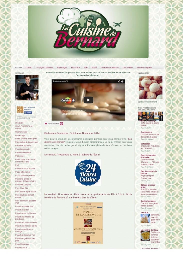 Article La Cuisine de Bernard