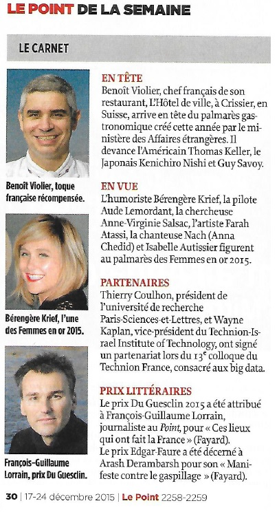 Article Le Point 17.12.15