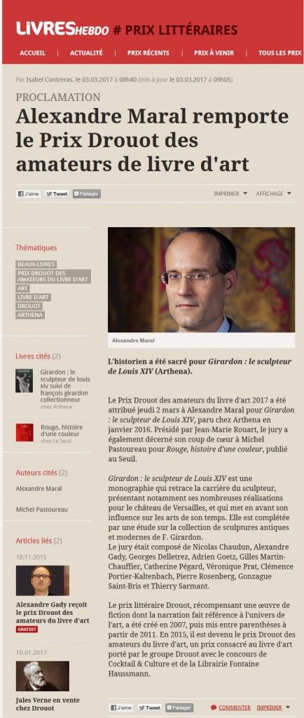 Article Livres Hebdo Prix Drouot 2017