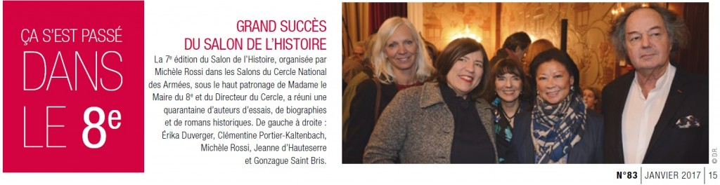 Article Magazine Paris 8 janvier 2017