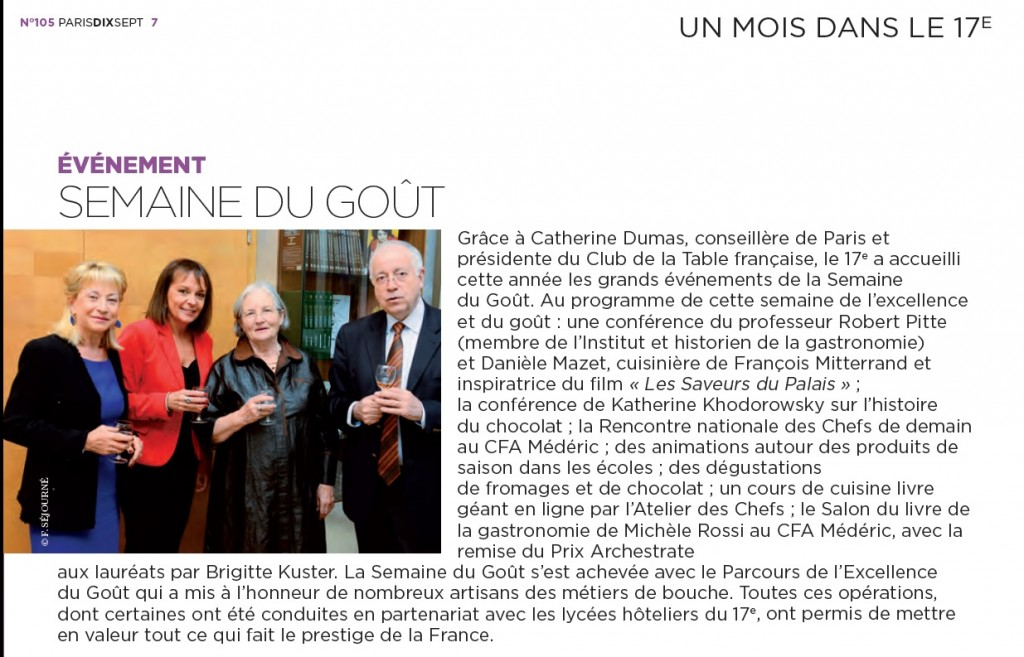 Article Paris 17 Décembre 2013