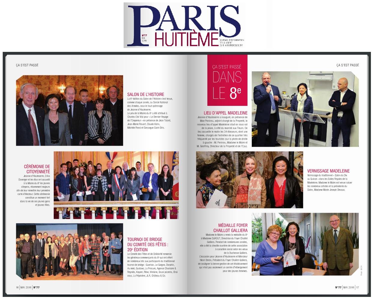 Article Paris 8 - 5ème Salon de l'Histoire mai 2016