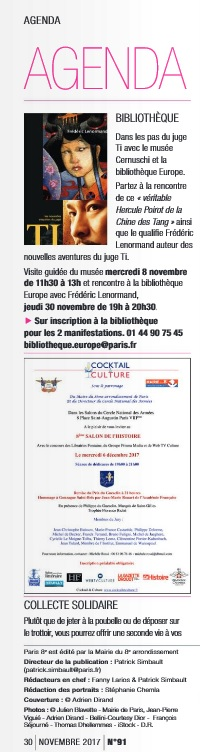 Article Paris 8 Invitation Salon de l'Histoire 2017