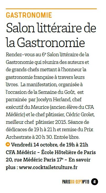 Article Paris Dix-Sept octobre 2016