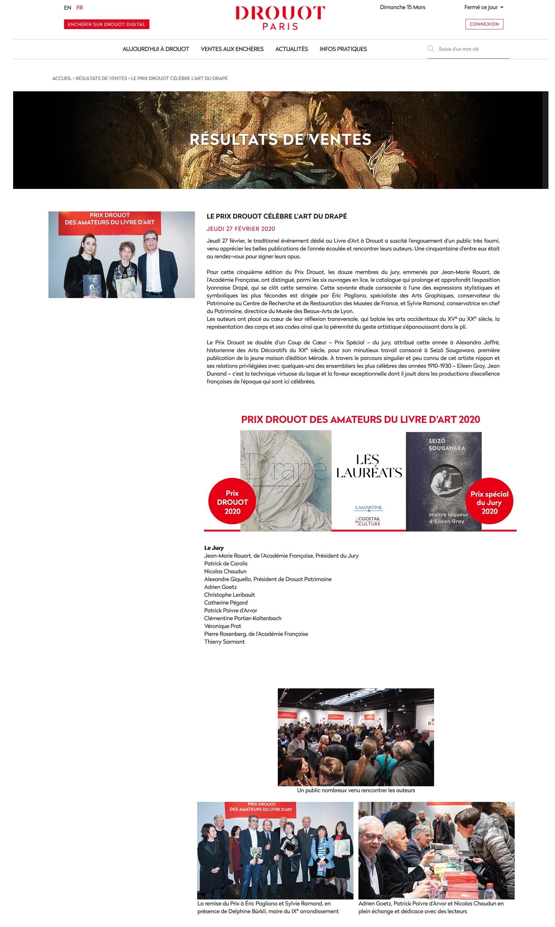 Article Site Internet Drouot 15.03.2020