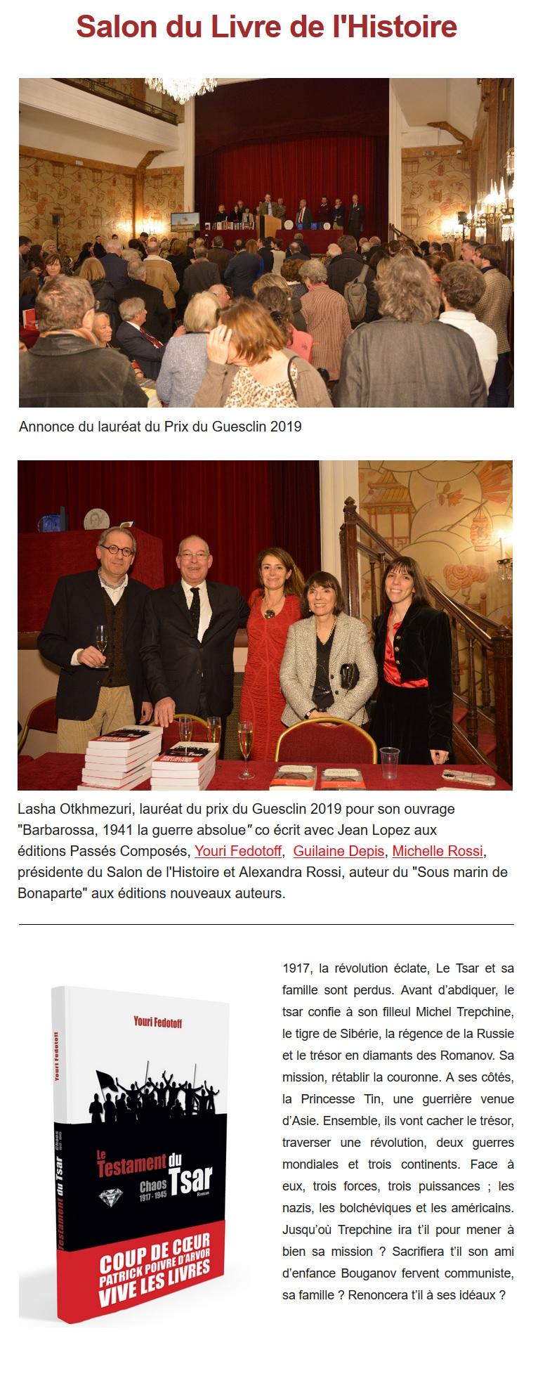 Article Y&O 10e Salon de l'Histoire