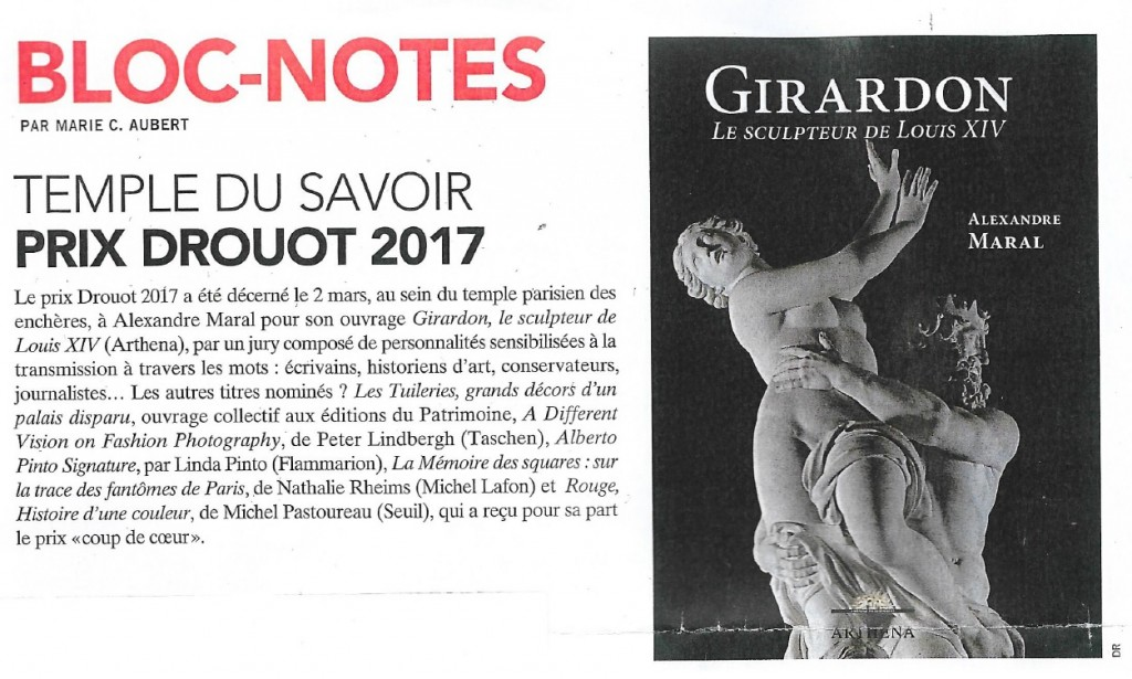 Bloc Notes Prix Drouot 2017