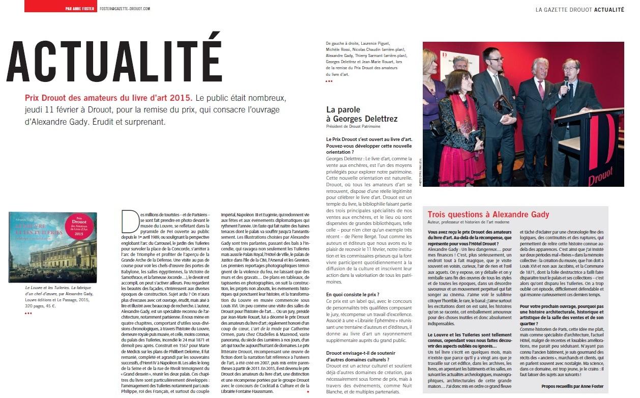 Gazette de Drouot - Prix Drouot 2015 - B