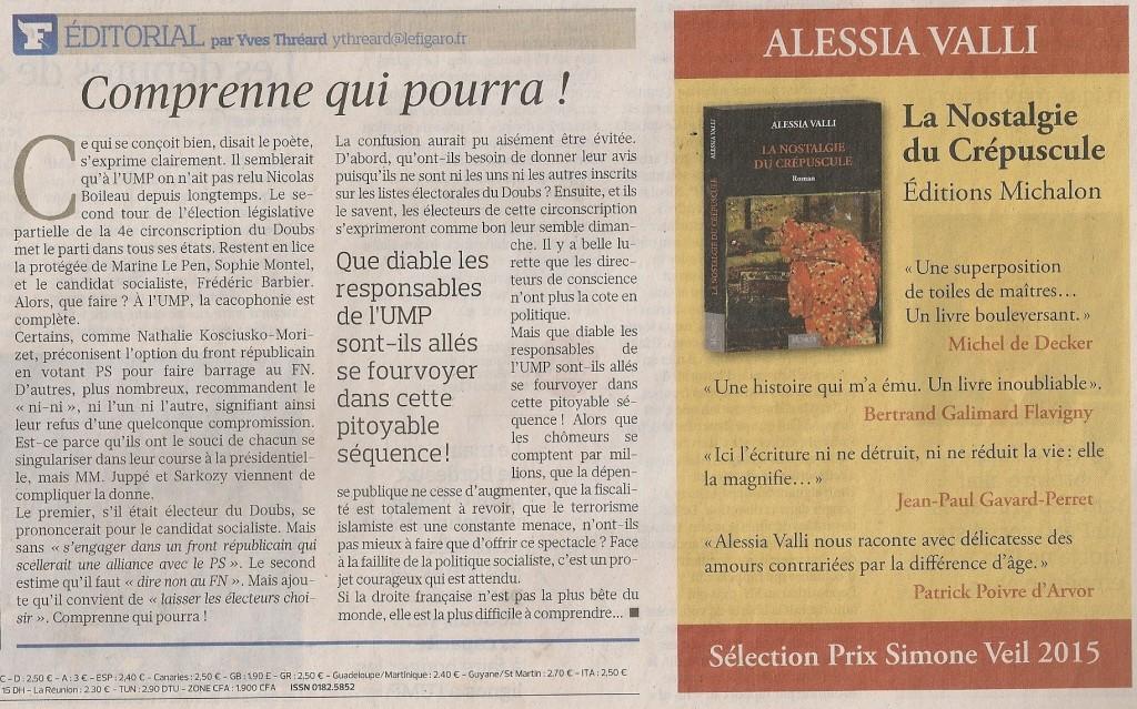 Publicité Figaro Alessia Valli