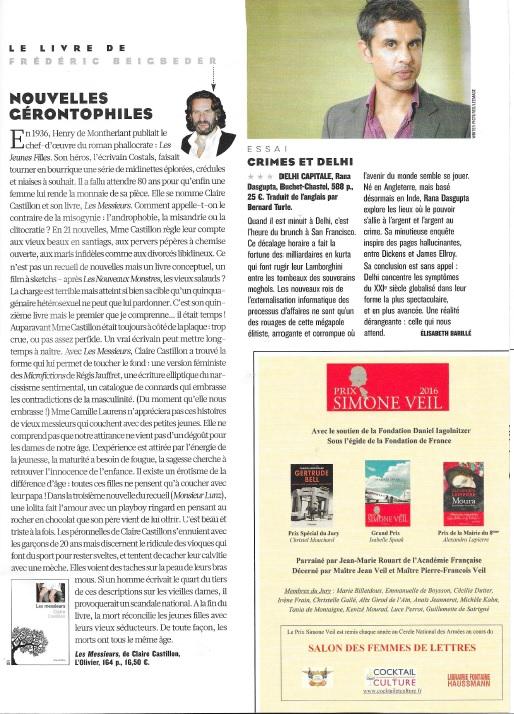 Publicité Figaro Magazine Prix Simone Veil 10-11 juin 2016