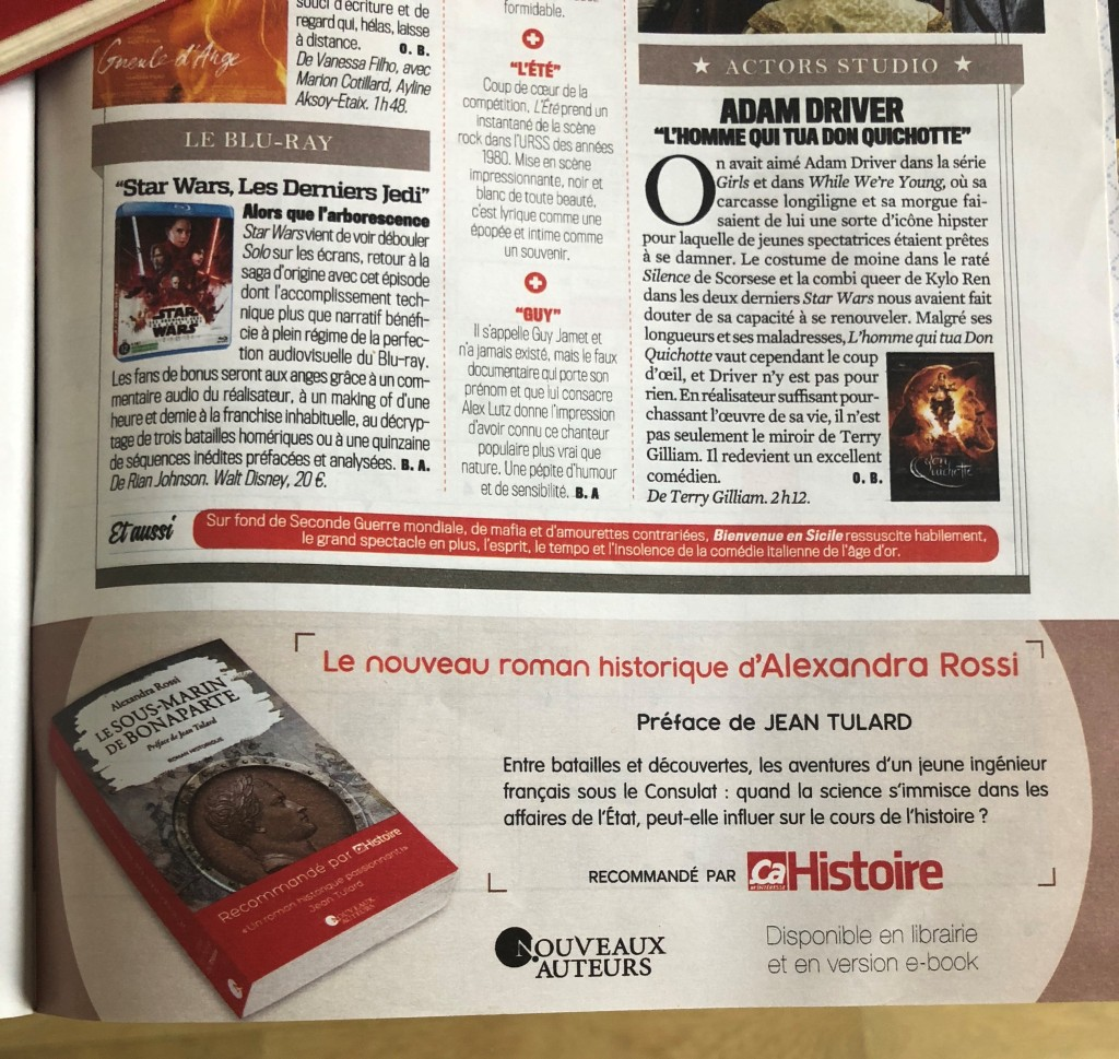 Publicité Le Sous-Marin de Bonaparte VSD 24-30 mai 2018