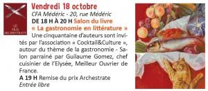 Programme Semaine du Gout Mairie 17 - Encadré