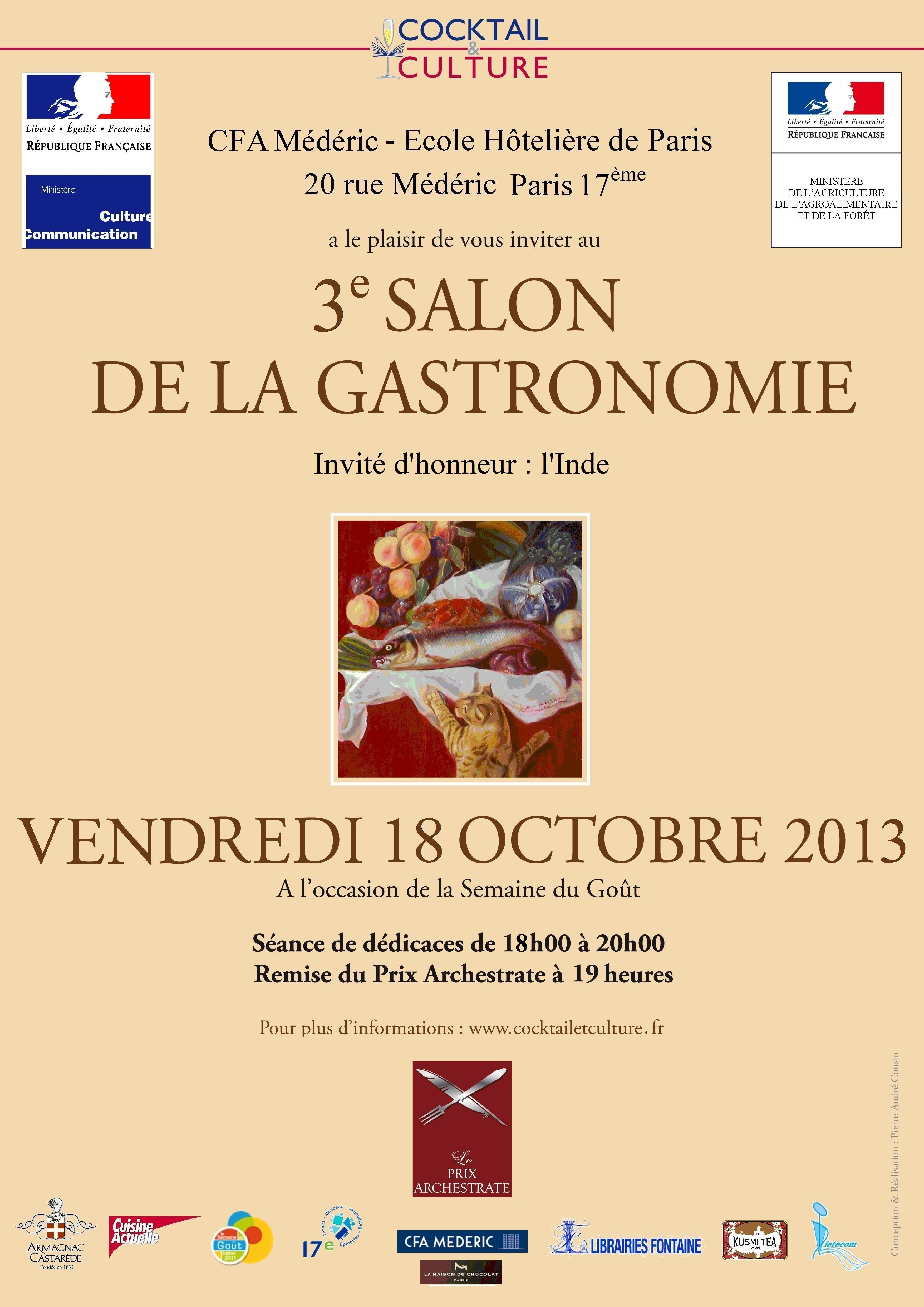 L 39 inde invite d 39 honneur au 3 me salon de la gastronomie paris pinklotusinindia - Salon de la gastronomie paris ...