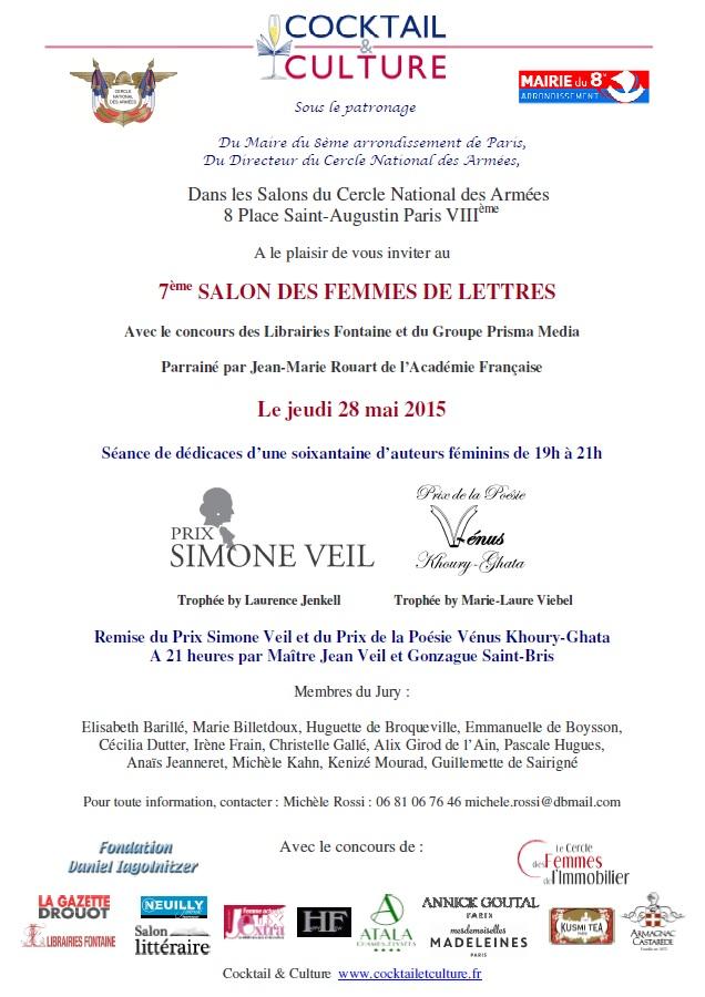 Invitation 7ème Salon des Femmes de Lettres