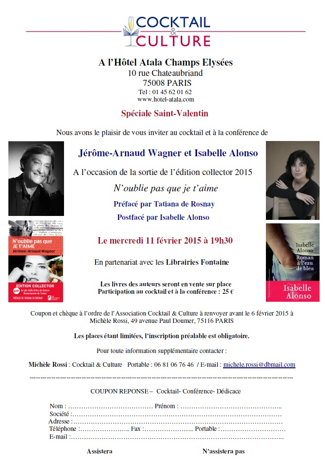 Invitation Jerome-Arnaud Wagner et Isabelle Alonso