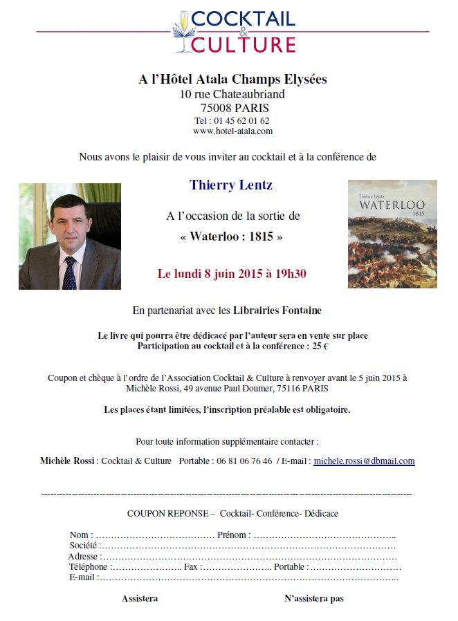 Invitation Thierry Lentz