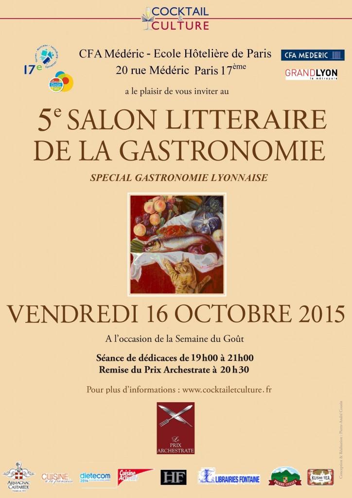 Affiche 5ème Salon Littéraire de la Gastronomie