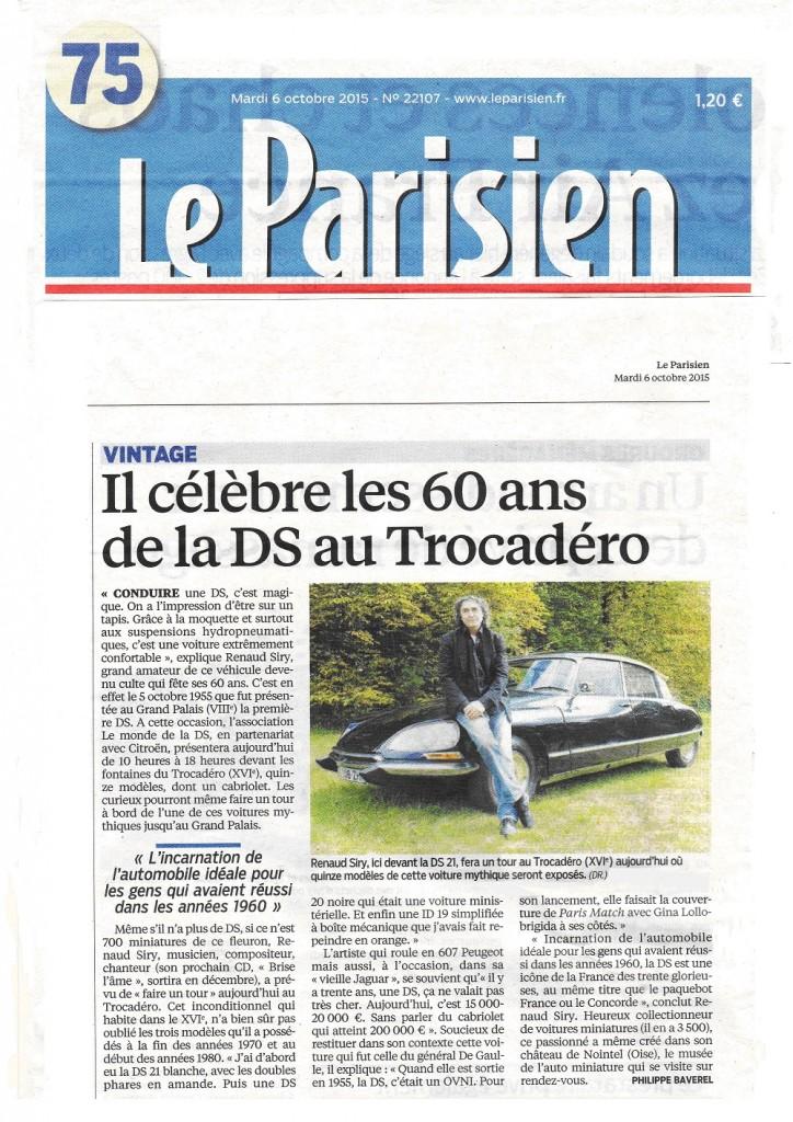 Presse Renaud SIRY Le Parisien 6 oct 2015 2