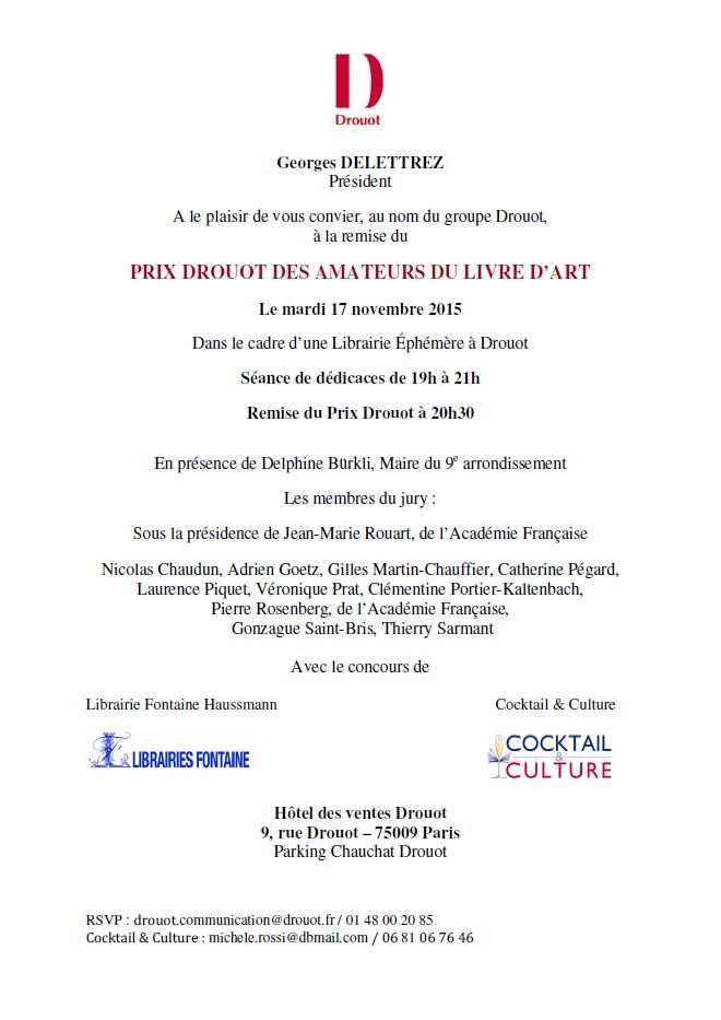 Invitation Prix Drouot