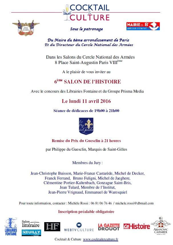 Invitation 6eme Salon de l'Histoire