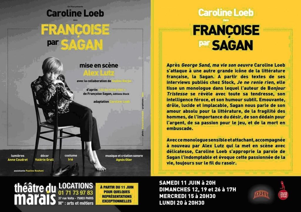 Caroline Loeb Françoise par Sagan