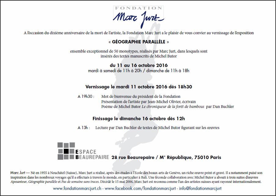 Carton invitation Marc Jurt 2