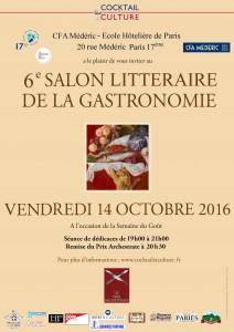 Affiche 6ème Salon Littéraire de la Gastronomie