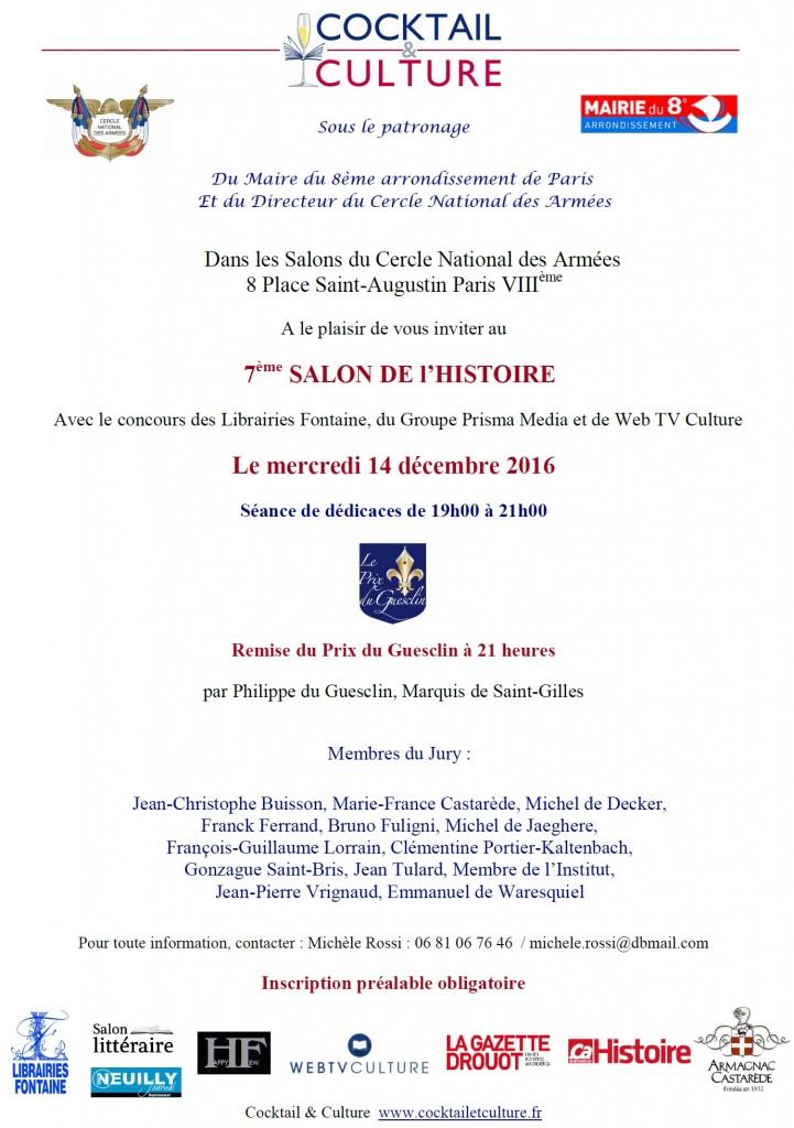 Invitation 7eme Salon de l'Histoire