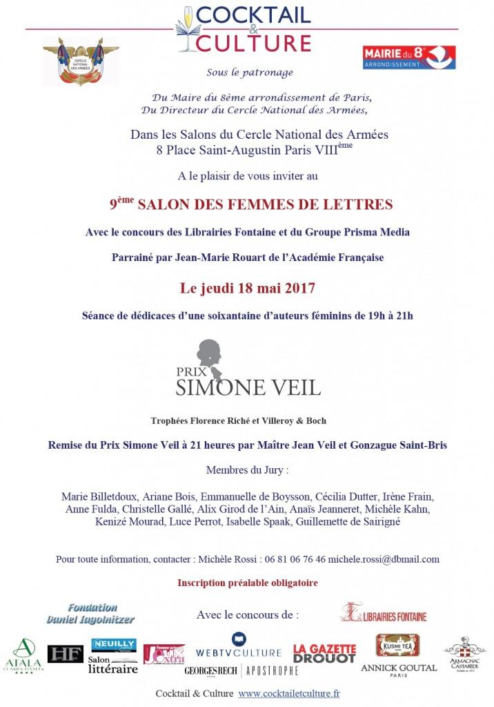 Invitation 9ème Salon des Femmes de Lettres