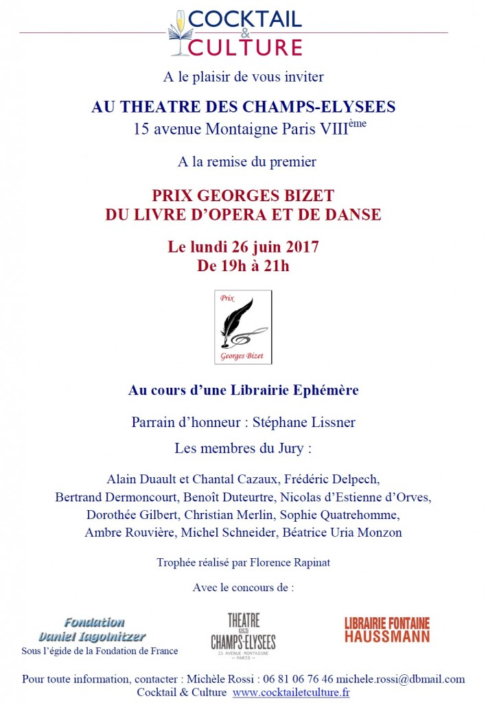 Invitation Prix Georges Bizet