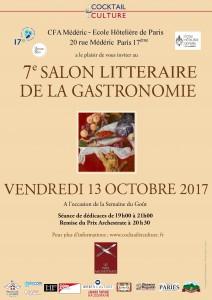 Affiche 7ème Salon Littéraire de la Gastronomie