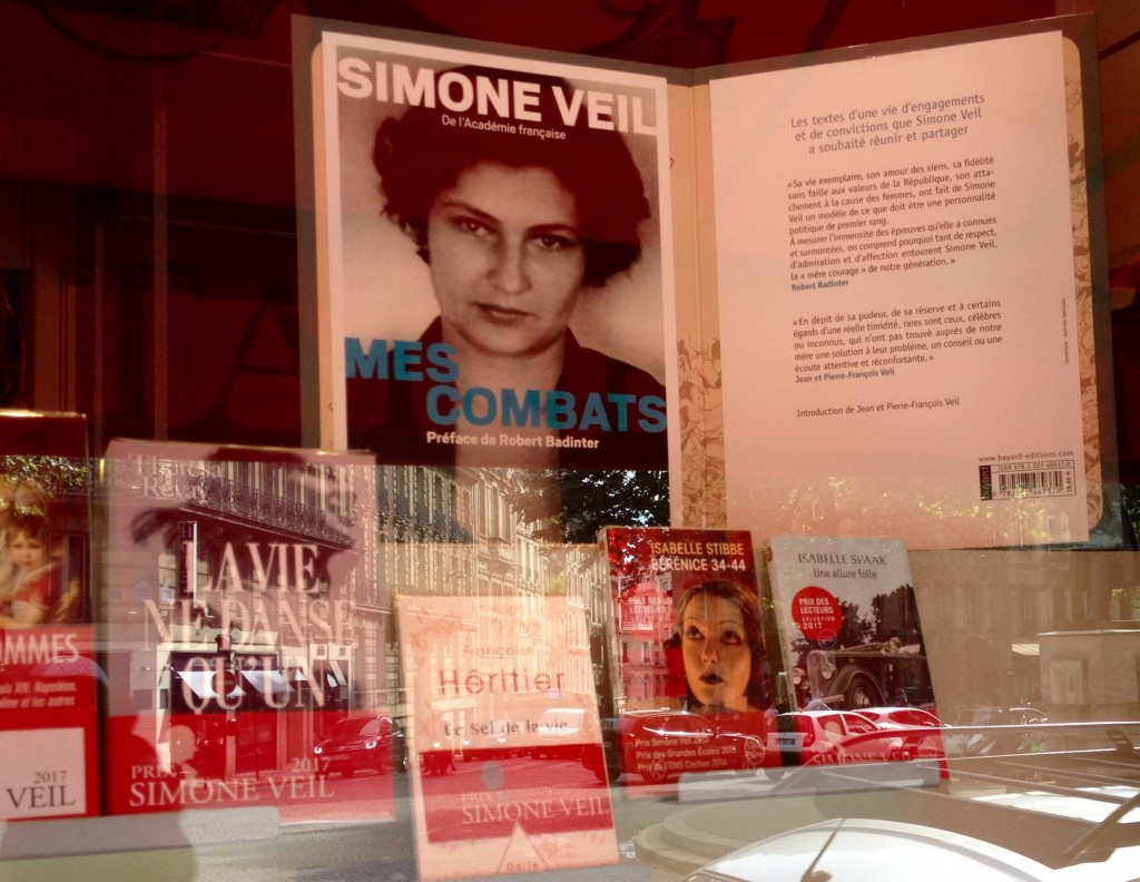 Photo Vitrine Prix Simone Veil 1