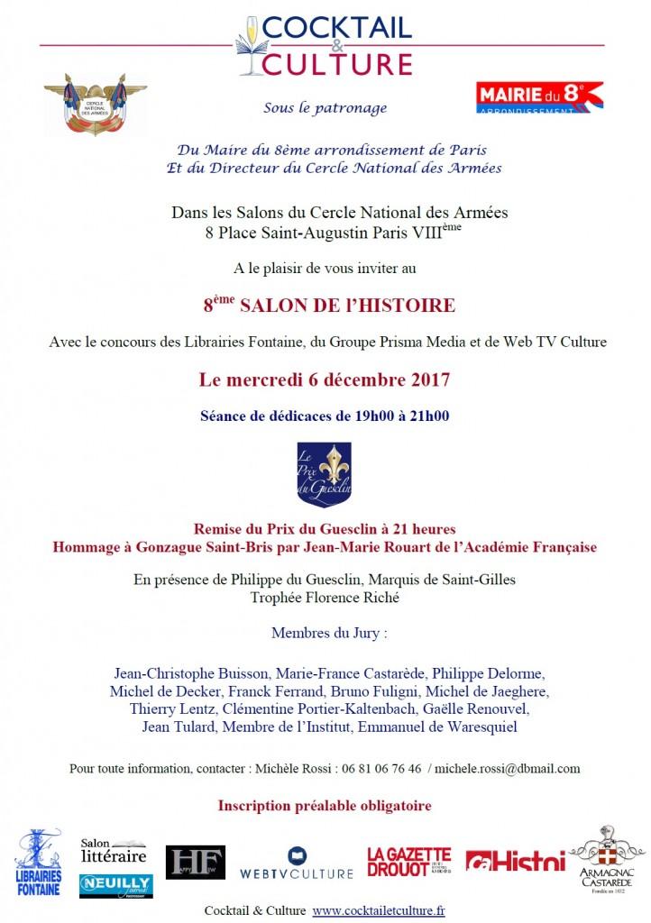 Invitation 8eme Salon de l'Histoire