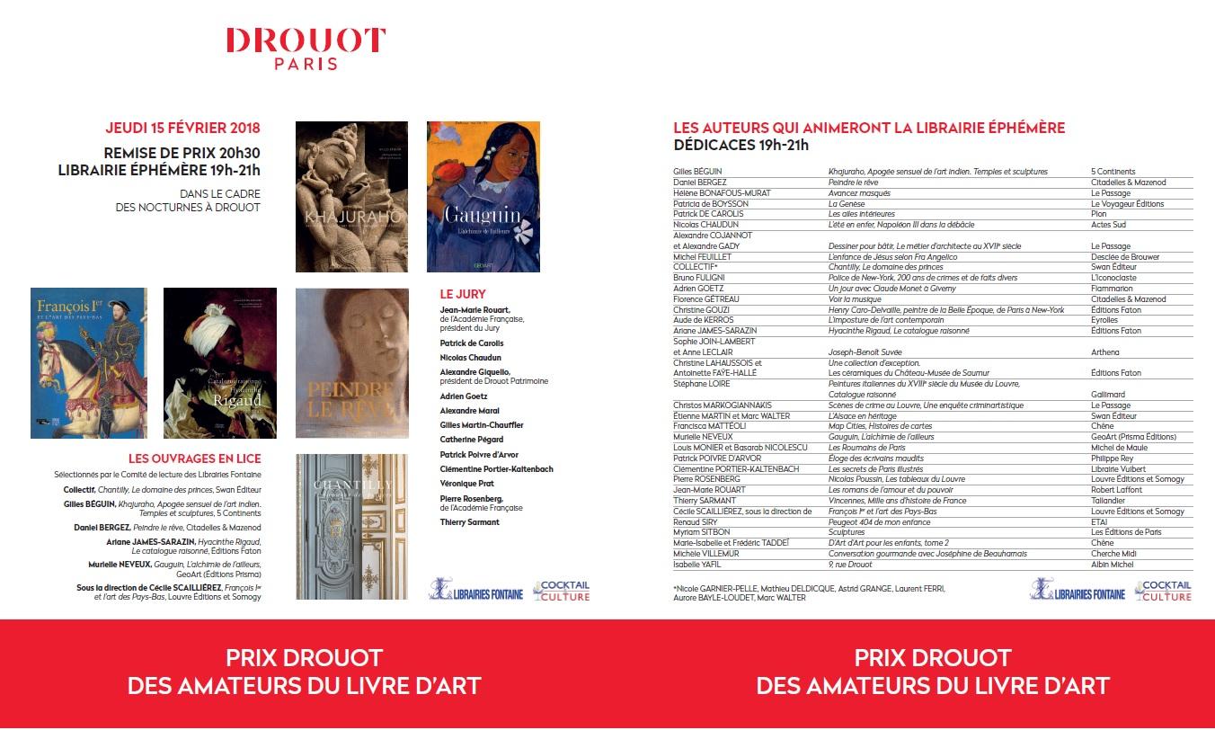 Gazette de Drouot - Auteurs Librairie Ephémère 15 février 2018