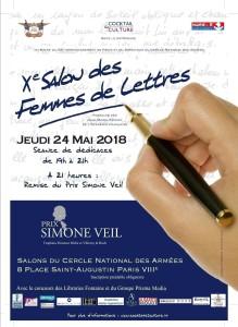 Affiche 10ème Salon des Femmes de Lettres