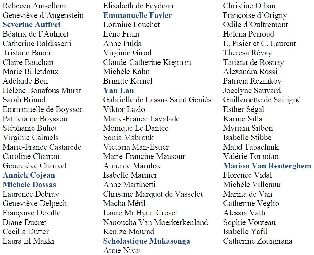 Liste auteurs 2018