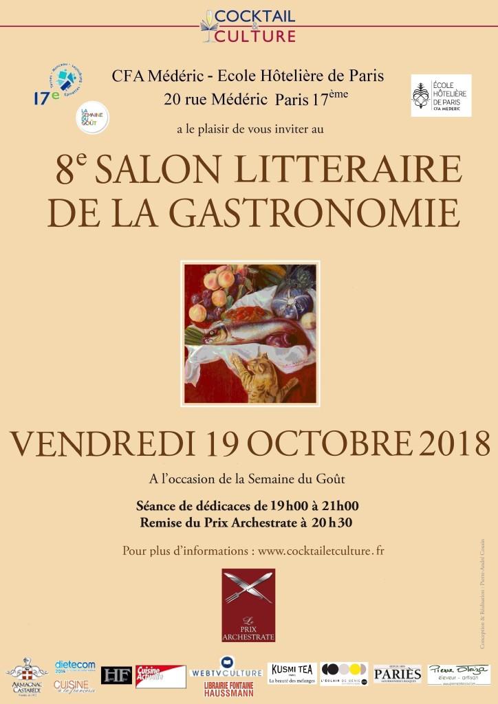 Affiche 8ème Salon Littéraire de la Gastronomie