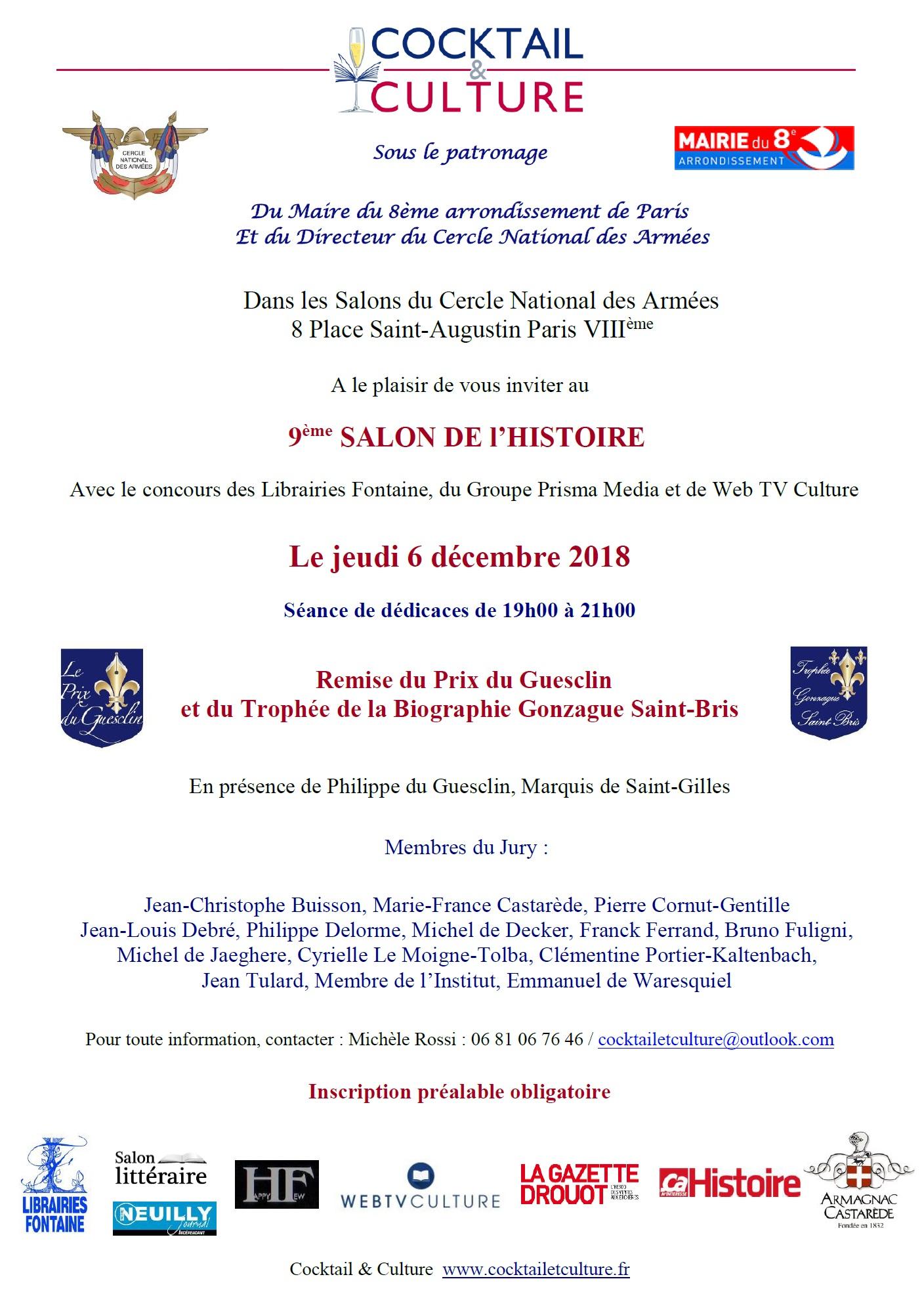 Invitation 9ème Salon de l'Histoire 2