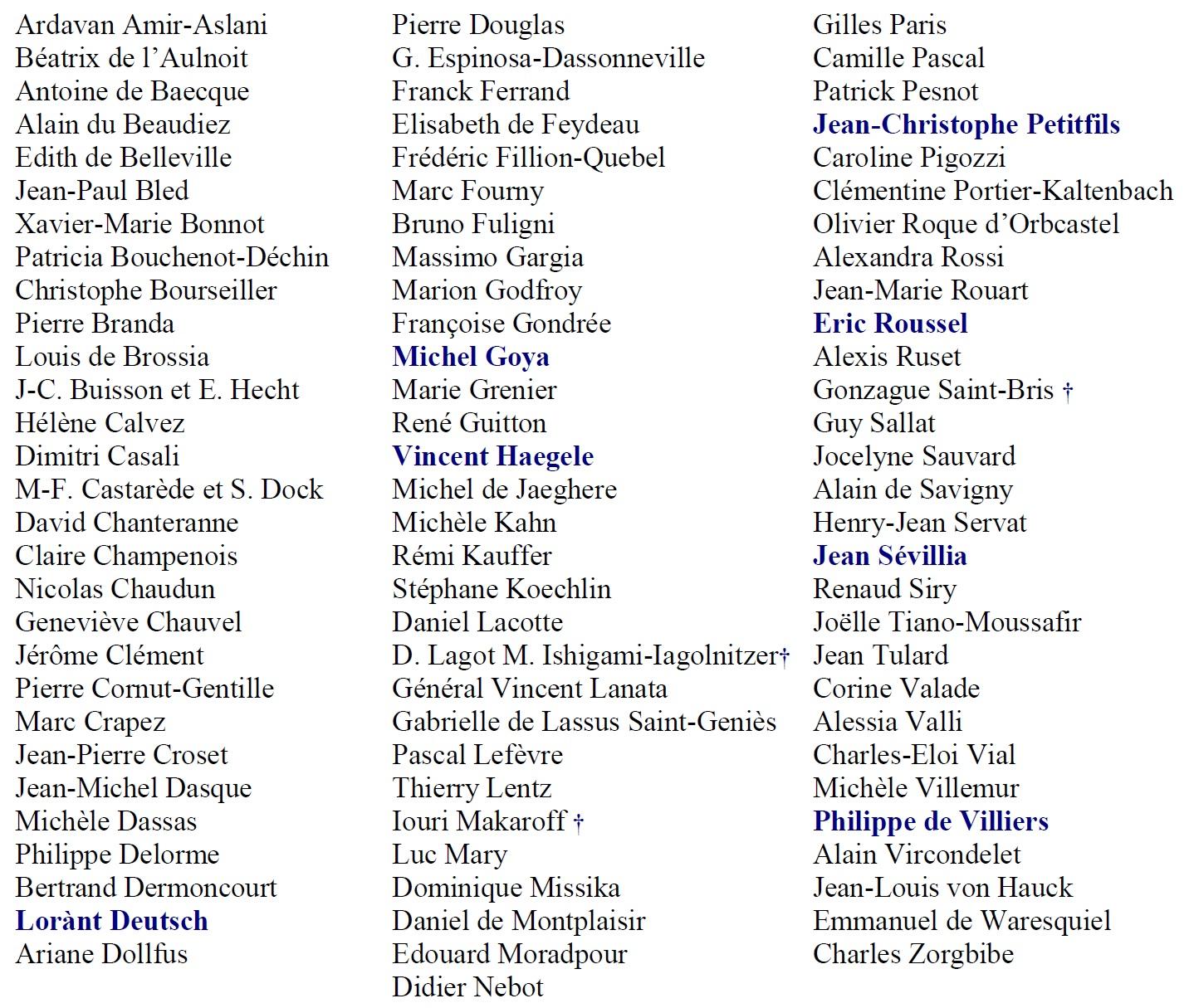 Liste auteurs 9ème Salon de l'Histoire site